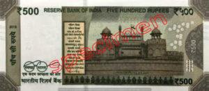 Billet 500 Roupie Inde INR