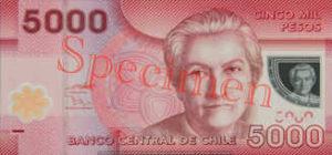 Billet 5000 Peso Chili CLP recto