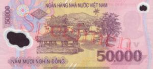 Billet 50000 Dong Vietnam VND verso