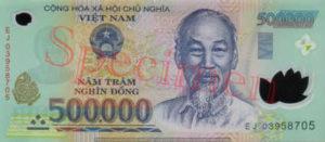 Billet 500000 Dong Vietnam VND recto