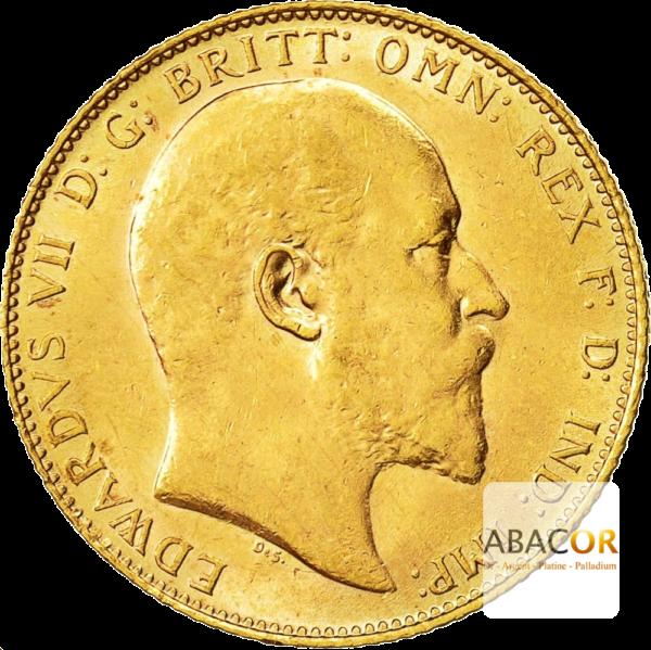 Souverain Or Edouard VII de 1902 à 1910
