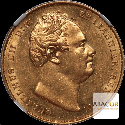 Souverain Or Guillaume IIII de 1831 à 1837