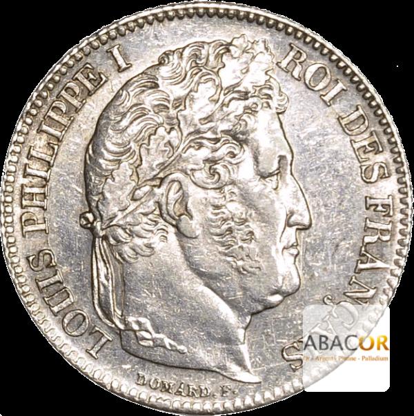 1 Franc Argent Louis Philippe Tête Laurée