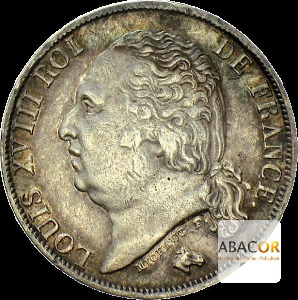 1 Franc Argent Louis XVIII