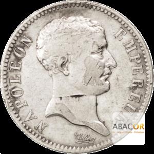 1 Franc Argent Napoléon Empereur Tête de Nègre