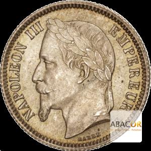1 Franc Argent Napoléon III Tête Laurée