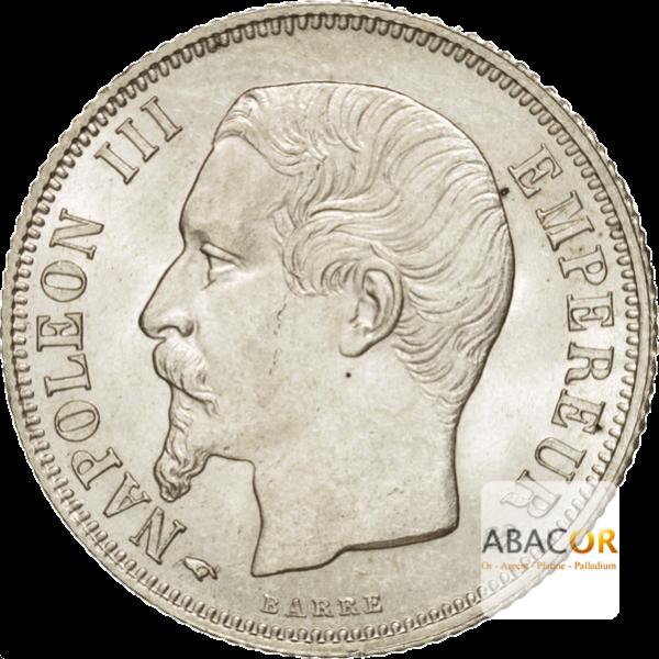 1 Franc Argent Napoléon III Tête Nue