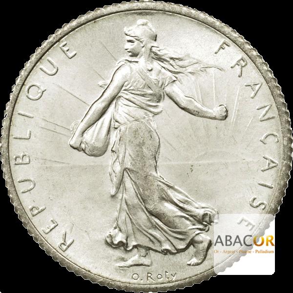 Pièce de 1 Franc Semeuse en Argent Avers