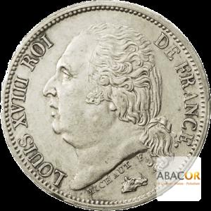 1/2 Franc Argent Louis XVIII