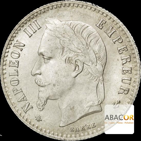 50 Cent Argent Napoléon III Tête Laurée