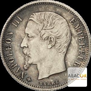50 Cent Argent Napoléon III Tête Nue