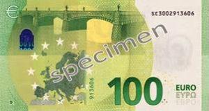 Billet 100 Euros Série Europe 2019