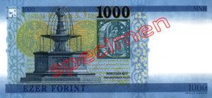 1000 Forint Hongrie 2018
