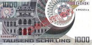 1000 Schilling Autriche