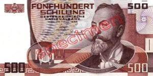 500 Schilling Autriche