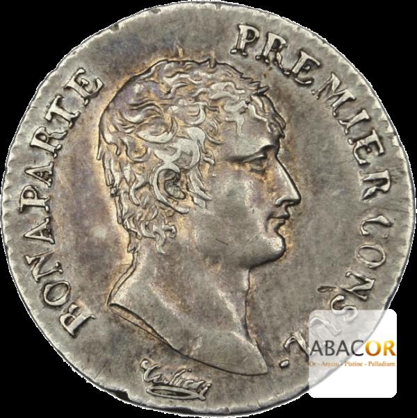Demi Franc Argent Bonaparte Premier Consul
