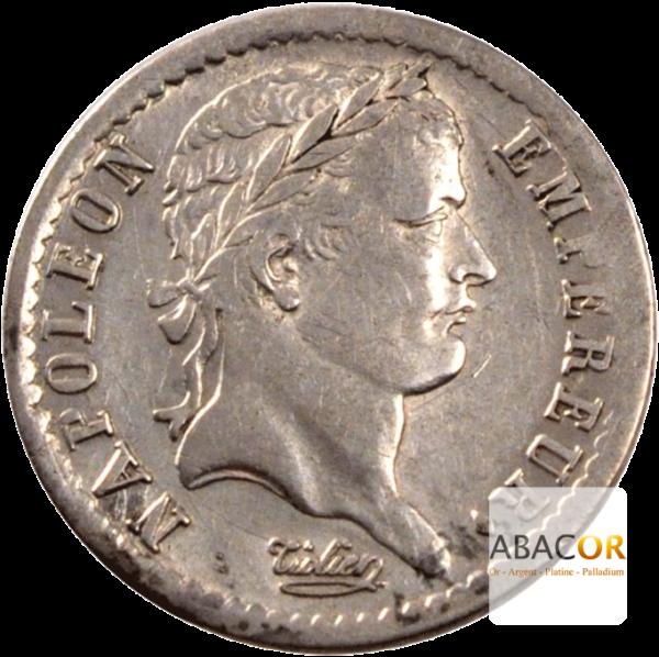 Demi Franc Argent Napoléon Ier Tête Laurée Revers République