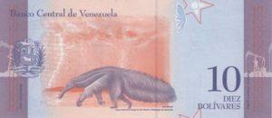 Billet 10 Bolivar Venezuelien VES 2018 v