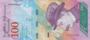 Billet 100 Bolivar Venezuelien VES 2018 r