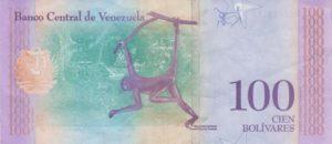 Billet 100 Bolivar Venezuelien VES 2018 v