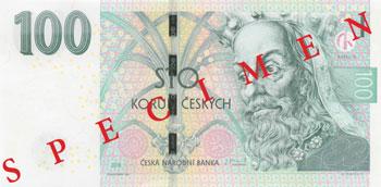 Billet 100 Couronnes Rep Tcheque CZK 2018 recto