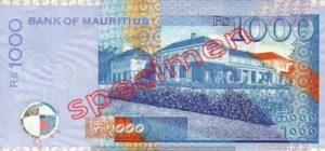 Billet 1000 Roupie Maurice MUR
