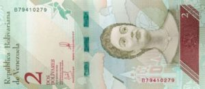 Billet 2 Bolivar Venezuelien VES 2018 r