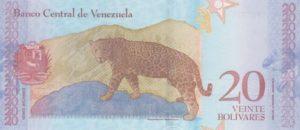 Billet 20 Bolivar Venezuelien VES 2018 v
