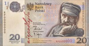 Billet 20 Zloty Pologne PLN 2018