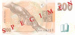 Billet 200 Couronnes Rep Tcheque CZK 2018 verso