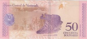 Billet 50 Bolivar Venezuelien VES 2018 v