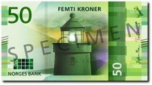 Billet 50 Couronne Norvégienne