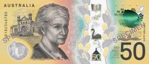 Billet 50 Dollar Australien AUD 2018 verso