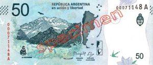 Billet 50 Pesos Argentine ARS 2018 recto