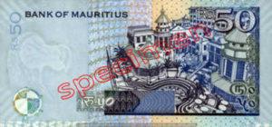 Billet 50 Roupie Maurice MUR