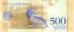 Billet 500 Bolivar Venezuelien VES 2018 v