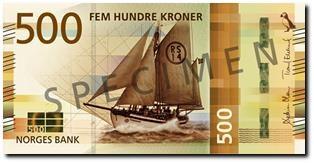 Billet 500 Couronne Norvégienne