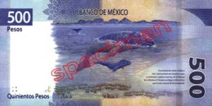 Billet 500 Pesos Mexique MXN 2018 verso