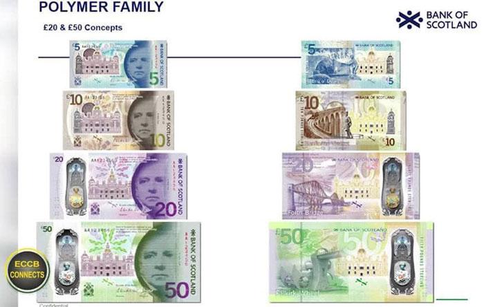 Billets Livres Ecossaises Polymère Bank Of Scotland 2018