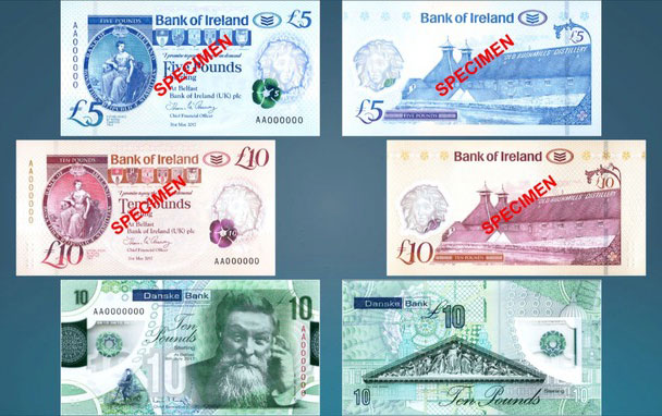 Nouveaux billets d'Irlande du Nord en Polymère 2018