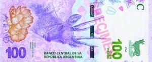 Billet 100 Pesos Argentine ARS 2018 recto