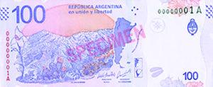 Billet 100 Pesos Argentine ARS verso