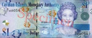Billet 1 Dollar Iles Caïmans KYD 2010 recto
