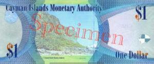Billet 1 Dollar Iles Caïmans KYD 2010 verso