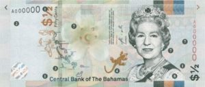 Billet 1/2 Dollar Bahamas BSD 2019 recto