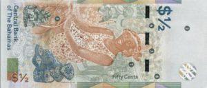 Billet 1/2 Dollar Bahamas BSD 2019 verso