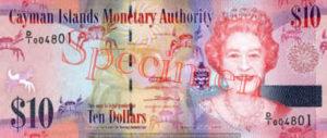 Billet 10 Dollar Iles Caïmans KYD 2010 recto