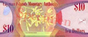 Billet 10 Dollar Iles Caïmans KYD 2010 verso