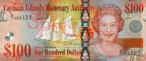 Billet 100 Dollar Iles Caïmans KYD 2010 recto