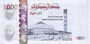 Billet 1000 Dinars Algérien DZD 2019 recto
